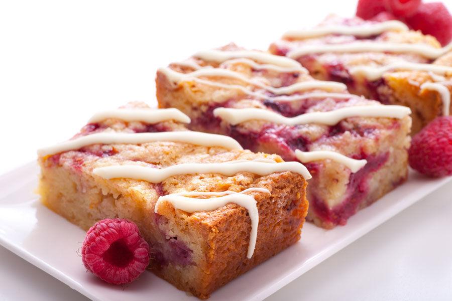 White Choc Raspberry Slice